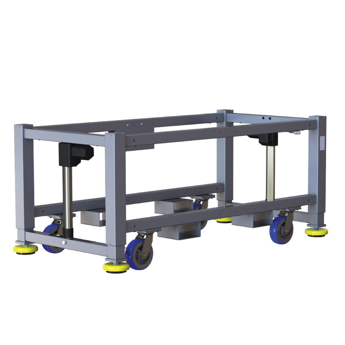 Machine base built durable and ergonomic