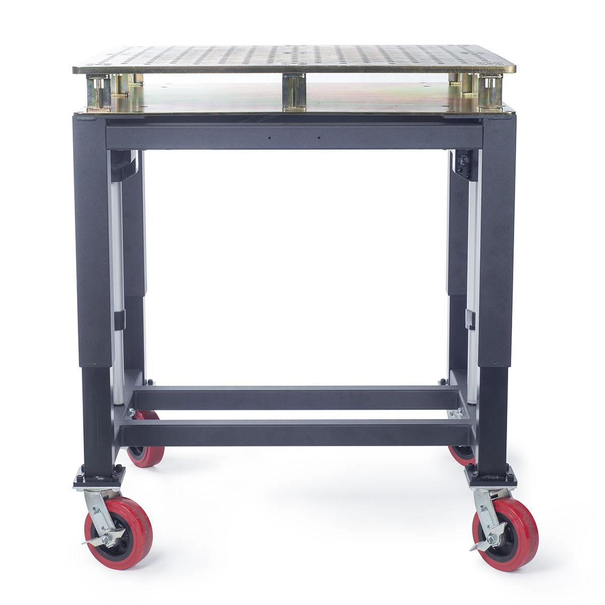 Height-adjustable welding table