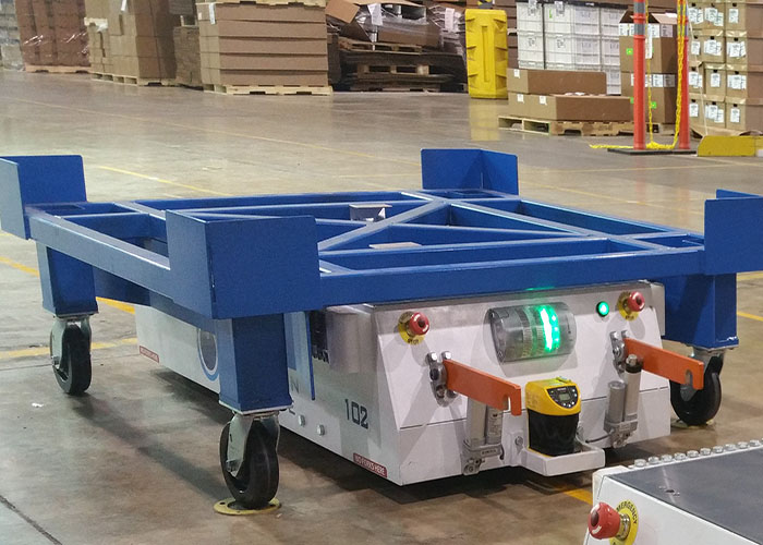Automated guided cart for material handling