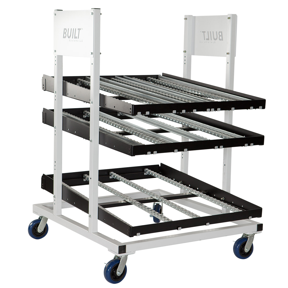 Mobile flow rack built flexible