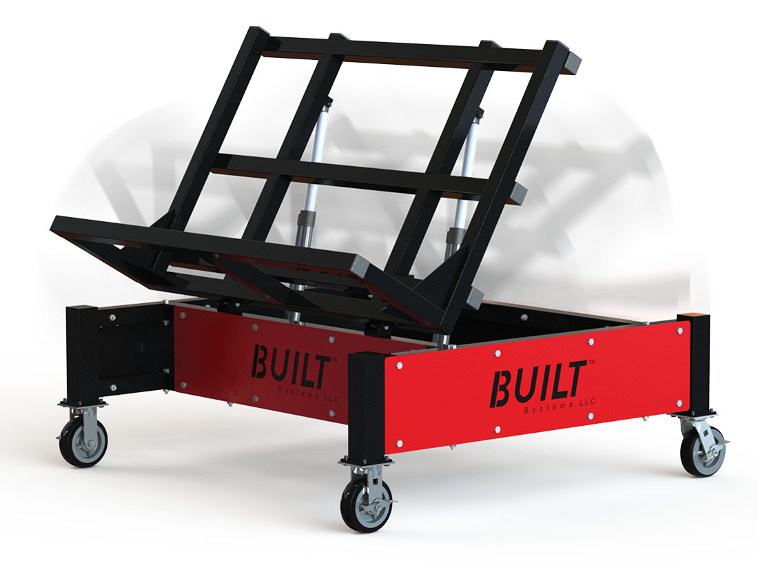 Tilt cart for material handling built ergonomic and durable