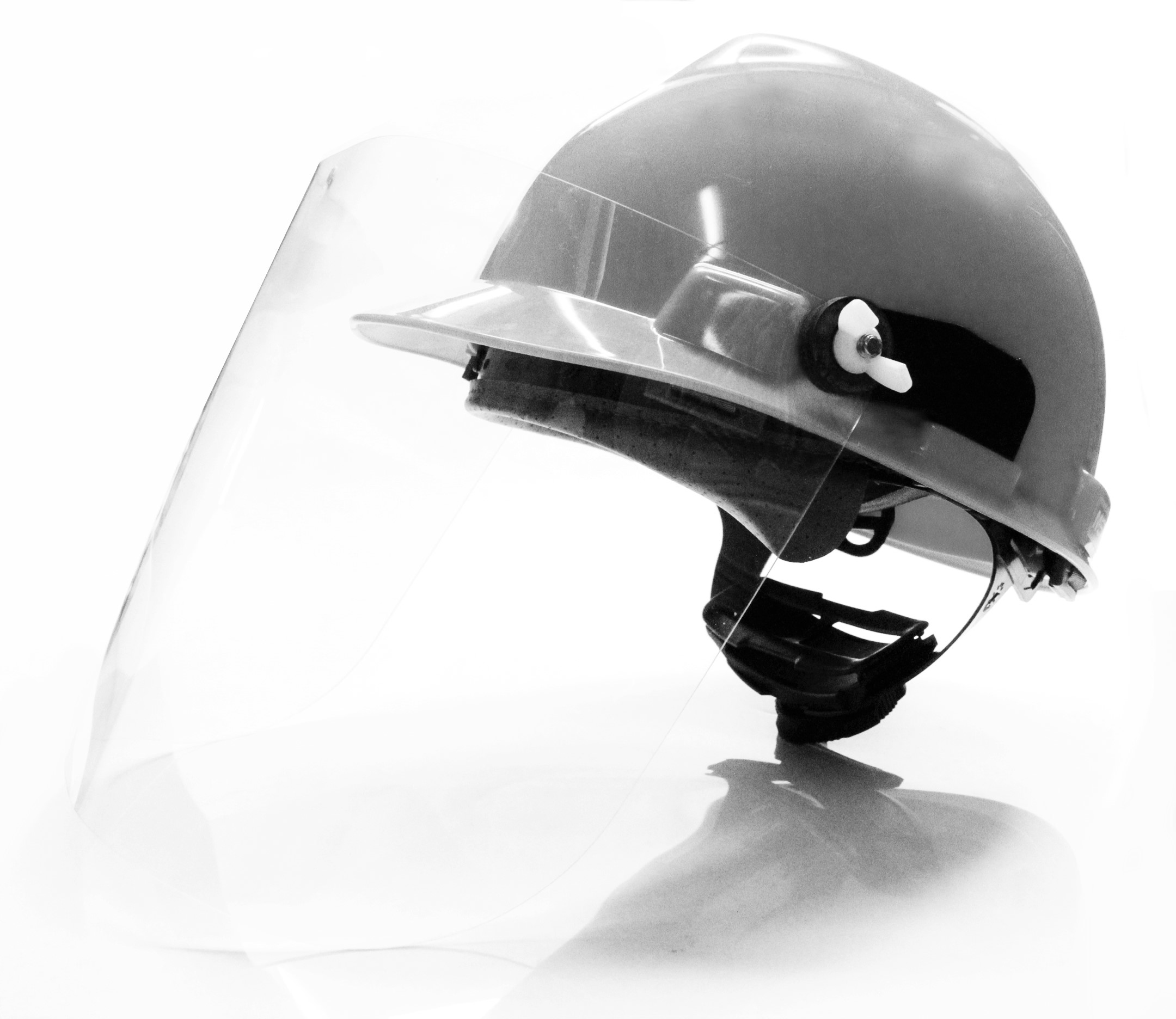hard hat face shield bw