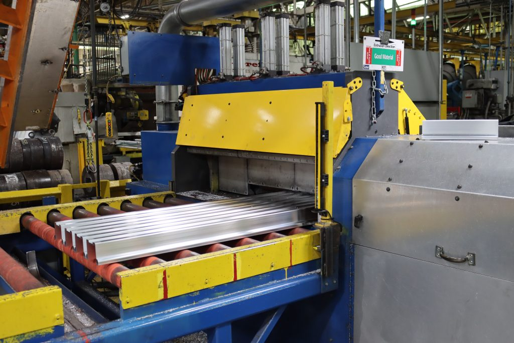 saw sound damping cover in manufacturing facility
